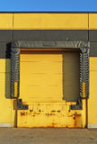 Yellow loading dock royalty free stock photography