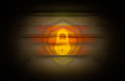 Yellow lock blend over color and vignette seamless background Stock Images