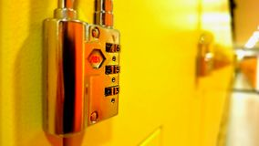 Yellow lockers. Yellow of the day Royalty Free Stock Image
