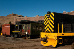 Yellow Locomotive Royalty Free Stock Photo