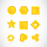 Yellow logo icon elements set Royalty Free Stock Image