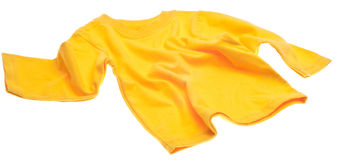 Yellow Long Sleeve Tee Shirt Royalty Free Stock Photography
