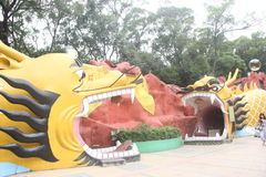 The yellow Loong in SHENZHEN ZHONGSHAN park Royalty Free Stock Image