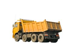Yellow lorry Royalty Free Stock Photo