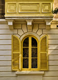 Yellow Louvered WIndow Stock Photos