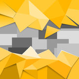 Yellow low poly Royalty Free Stock Photos