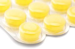 Yellow lozenges Stock Photo