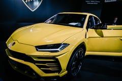 Yellow Luxury Car Near Man Royalty Free Stock Image