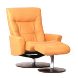 Yellow luxury leather recliner Royalty Free Stock Image