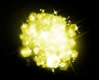 Yellow Luxury shine Stock Images