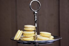 Yellow Macarons Stock Images