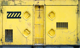 Yellow machinery texture Royalty Free Stock Image
