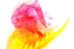 Yellow Magenta abstract watercolors. Royalty Free Stock Image