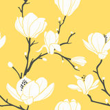 Yellow Magnolia Pattern Stock Photo