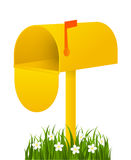 Yellow mail box Royalty Free Stock Images
