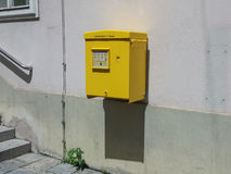 Yellow mail box for sending Stock Images