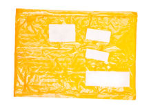 Yellow mail package Royalty Free Stock Image