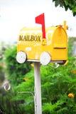 Yellow mailbox Royalty Free Stock Image