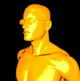 Yellow man Royalty Free Stock Photography