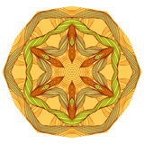 Yellow mandala Stock Photography