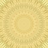 Yellow mandala sun explosion fractal background - circular vector pattern design from curved stars Stock Photography