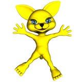 Yellow manga cat 2. A toon cat drawn in manga style Stock Images