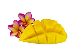 Yellow mango isolated. On a white Royalty Free Stock Images