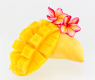 Yellow mango isolated on a white background. Yellow mango isolated white background Stock Images