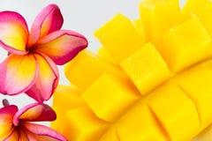 Mango isolated. Yellow mango isolated on a white background Royalty Free Stock Photography