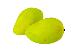 Yellow mango isolated. Royalty Free Stock Photo