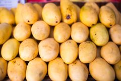 Yellow Mango in the local market on Boracay Stock Photos