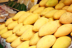 Yellow mango in market. Stock Photo