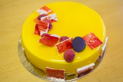Free Yellow Mango Or Lemon Mousse Cake Royalty Free Stock Photos - 161025768