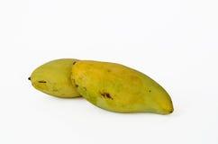 Yellow mango. Thai fruit favorite isolated on a white background Stock Photo