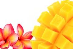 Mango. Yellow mango  on a white background Stock Photography