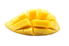 Yellow mango on white background, Thai fruit Royalty Free Stock Photography