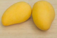 Yellow Mango. On woods board, Thailand Stock Image