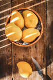 Yellow Mangoes Stock Photo