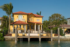 Yellow Mansion. More expensive houses from Miami in my portfolio Stock Photos