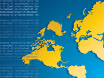 Yellow map of the world Stock Images