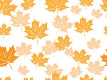 Yellow maple leaf vector seamless pattern for wallpaper, background, cover, greeting card, fabric textile Royalty Free Stock Photo