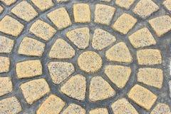 Yellow marble mosaic texture Stock Photos