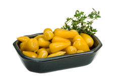 Yellow marinated pepper Royalty Free Stock Photography