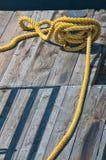 Yellow Marine Rope Stock Photos