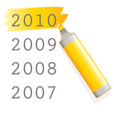 Yellow marker Royalty Free Stock Photos