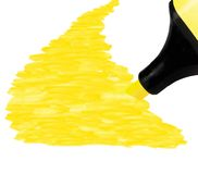 Yellow Marker and background, isolated perspective Royalty Free Stock Images