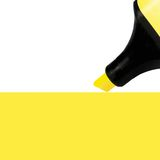 Yellow Marker painting background, isolated macro Stock Photography
