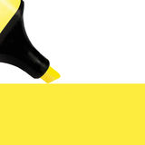 Yellow Marker painting background, large detailed  copy space macro closeup Stock Photo