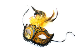 Yellow mask Stock Images