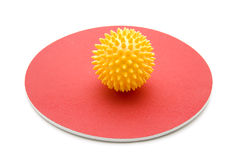Yellow massage ball Royalty Free Stock Image